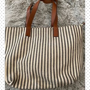 Sole Society Bags - Sole Society Striped Tote